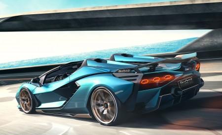 2021 Lamborghini Sián Roadster Rear Three-Quarter Wallpapers 450x275 (2)