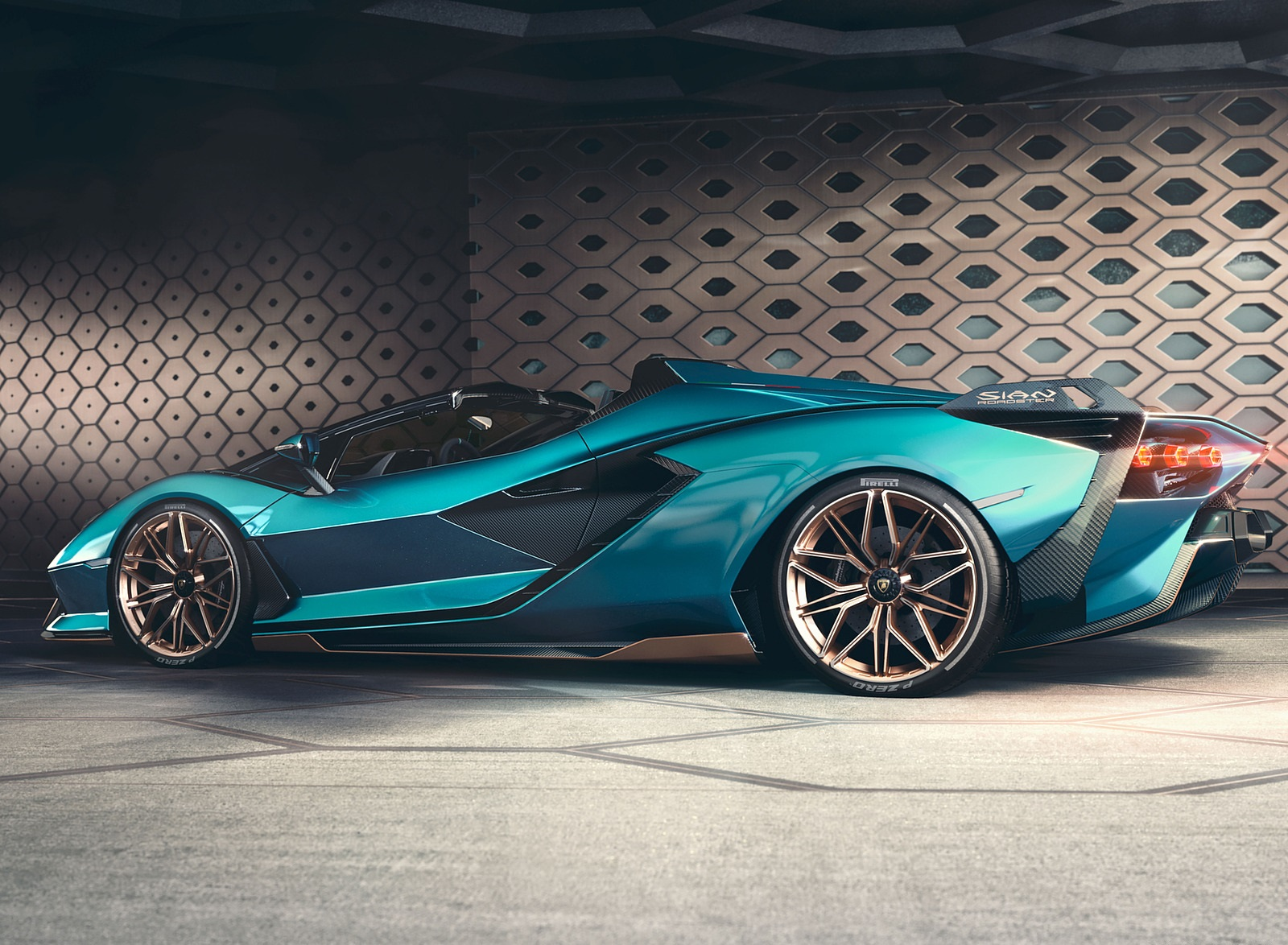 2021 Lamborghini Sián Roadster Side Wallpapers #12 of 19