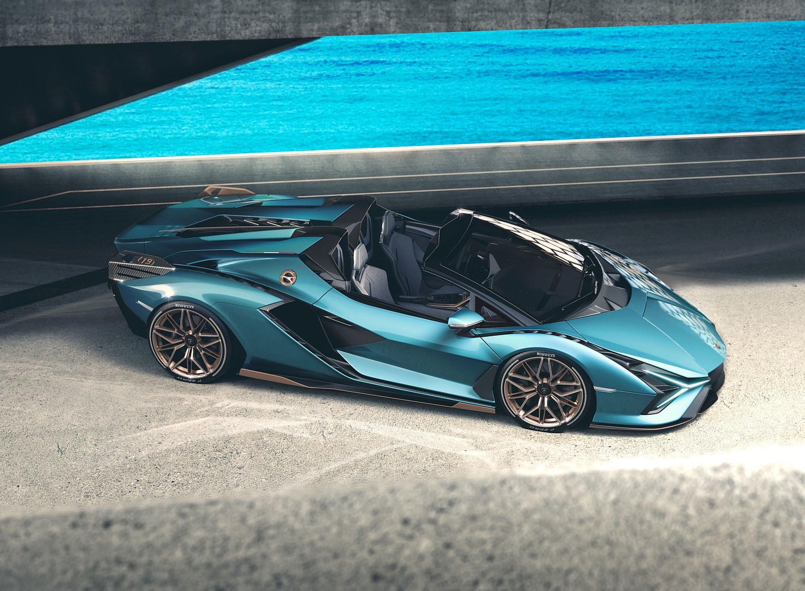 2021 Lamborghini Sián Roadster Side Wallpapers (5)