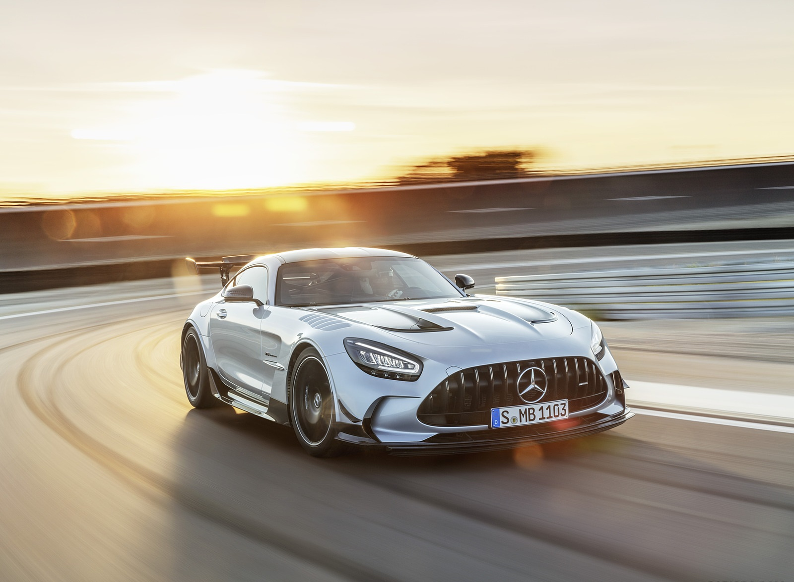 2021 Mercedes-AMG GT Black Series (Color: High Tech Silver) Front Wallpapers  (8)