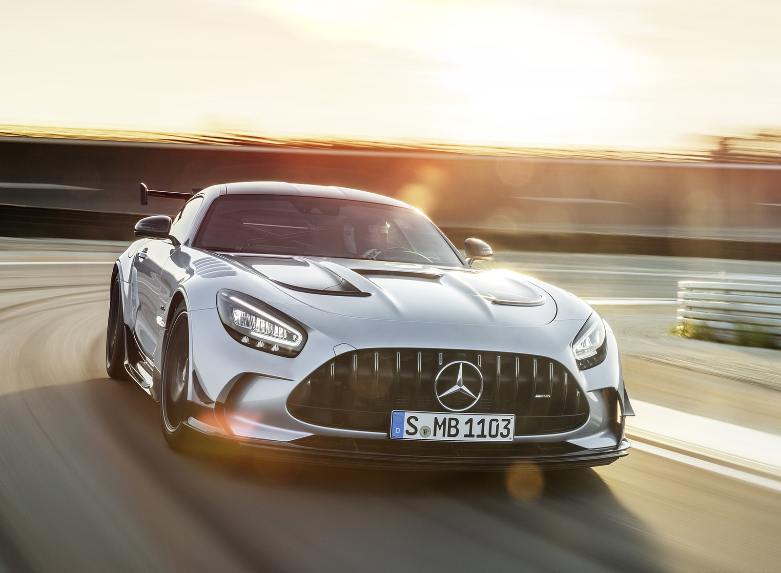 2021 Mercedes-AMG GT Black Series (Color: High Tech Silver) Front Wallpapers (2)