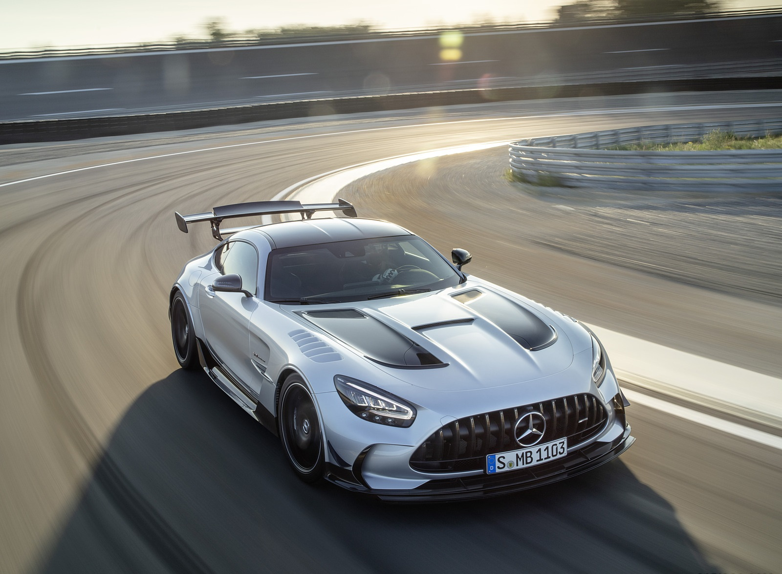 2021 Mercedes-AMG GT Black Series (Color: High Tech Silver) Front Wallpapers  (9)