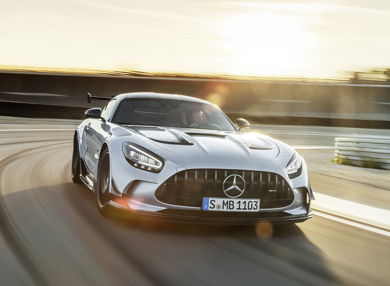 2021 Mercedes-AMG GT Black Series (Color: High Tech Silver) Front Wallpapers (1)
