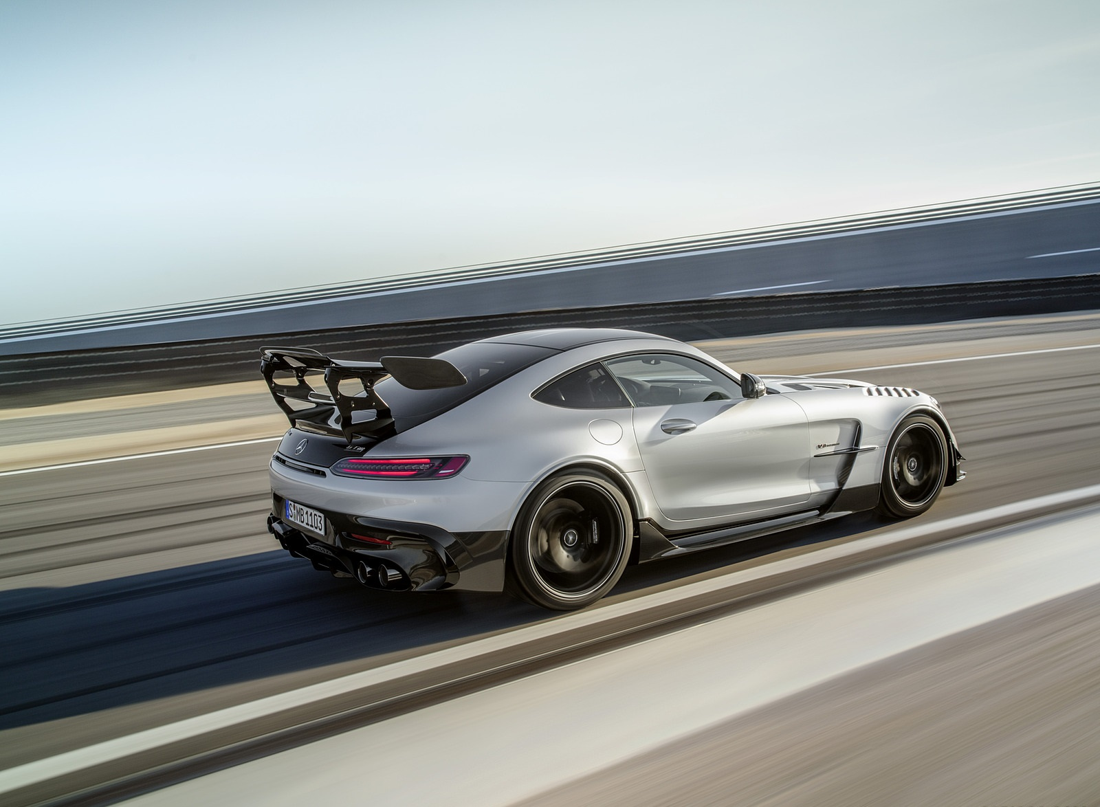 2021 Mercedes-AMG GT Black Series (Color: High Tech Silver) Rear Three-Quarter Wallpapers (10)