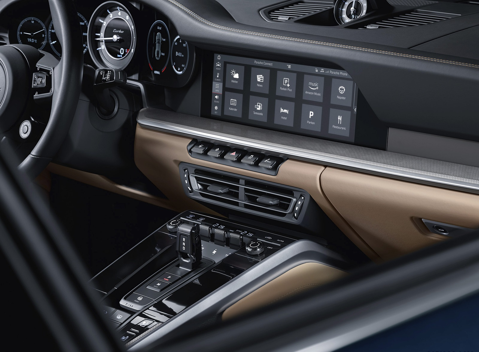 2021 Porsche 911 Turbo Central Console Wallpapers (9)