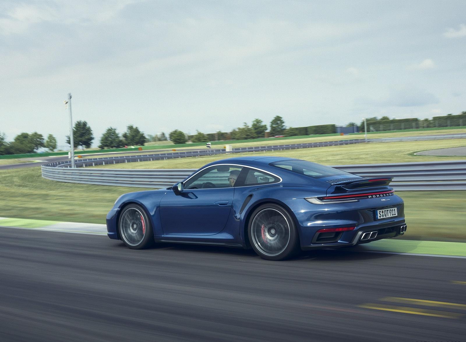2021 Porsche 911 Turbo Rear Three-Quarter Wallpapers (4)