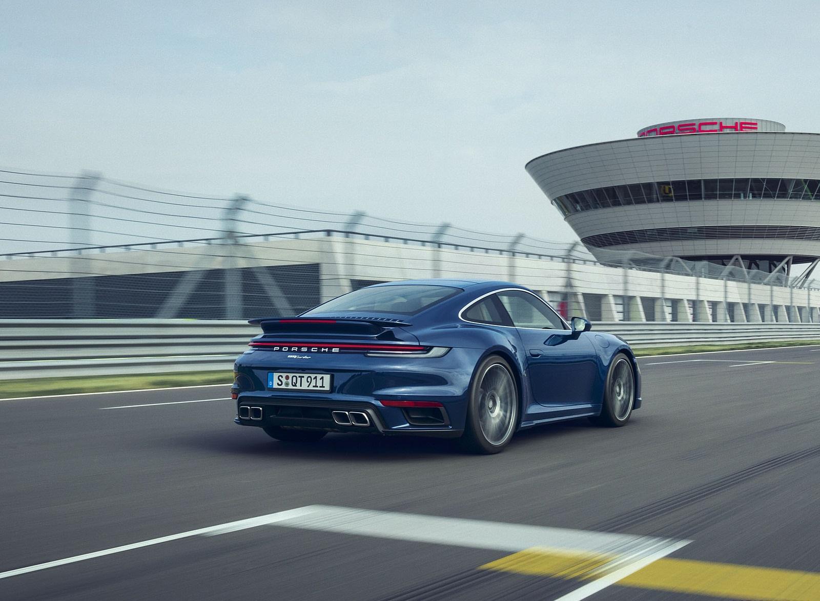 2021 Porsche 911 Turbo Rear Three-Quarter Wallpapers (5)