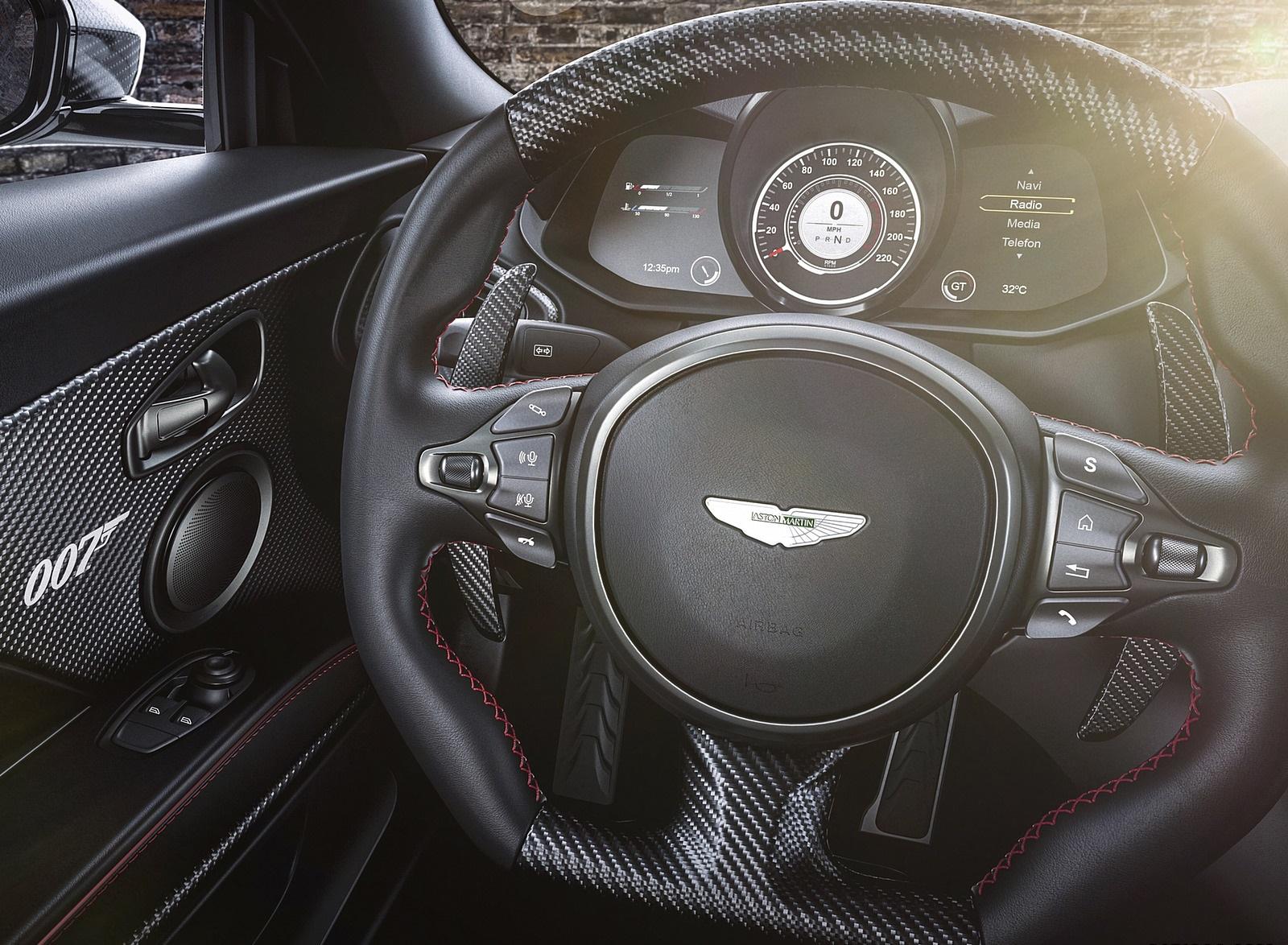 2021 Aston Martin DBS Superleggera 007 Edition Interior Steering Wheel Wallpapers (8)