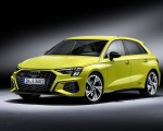 2021 Audi S3 Sportback (Color: Python Yellow) Front Three-Quarter Wallpapers 150x120 (19)