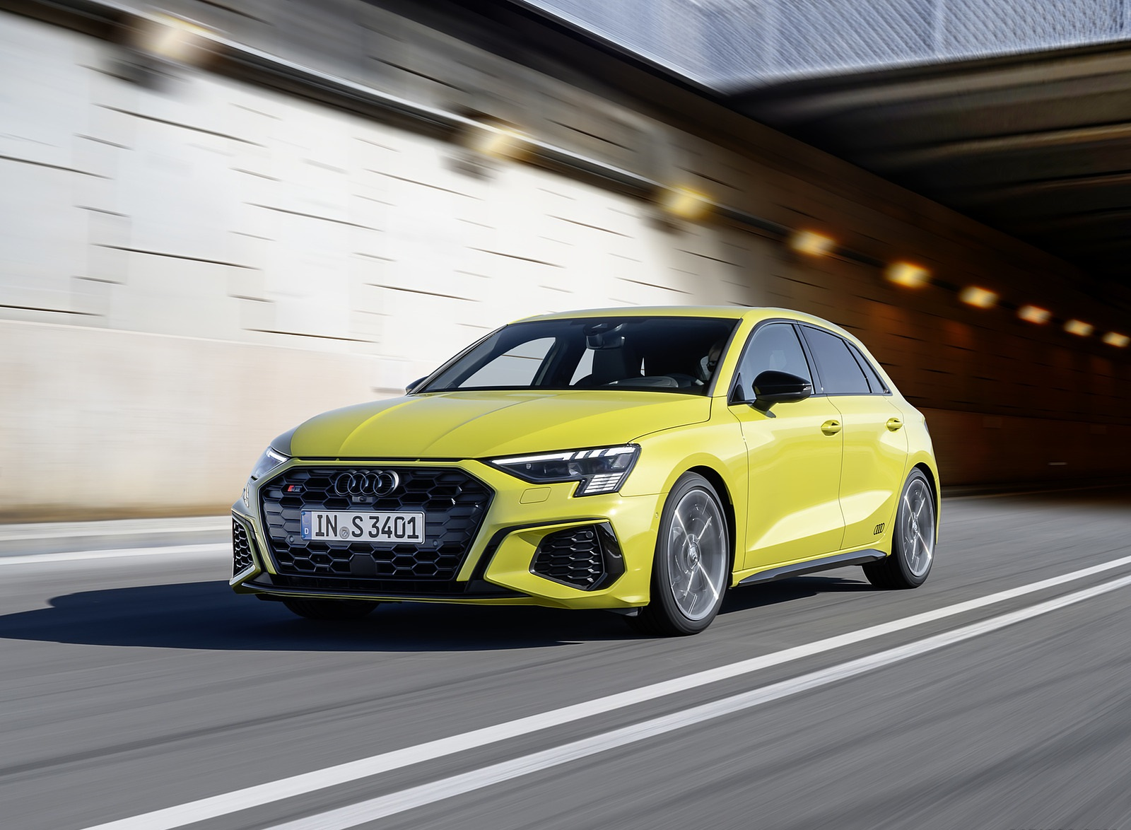 2021 Audi S3 Sportback (Color: Python Yellow) Front Three-Quarter Wallpapers (7)