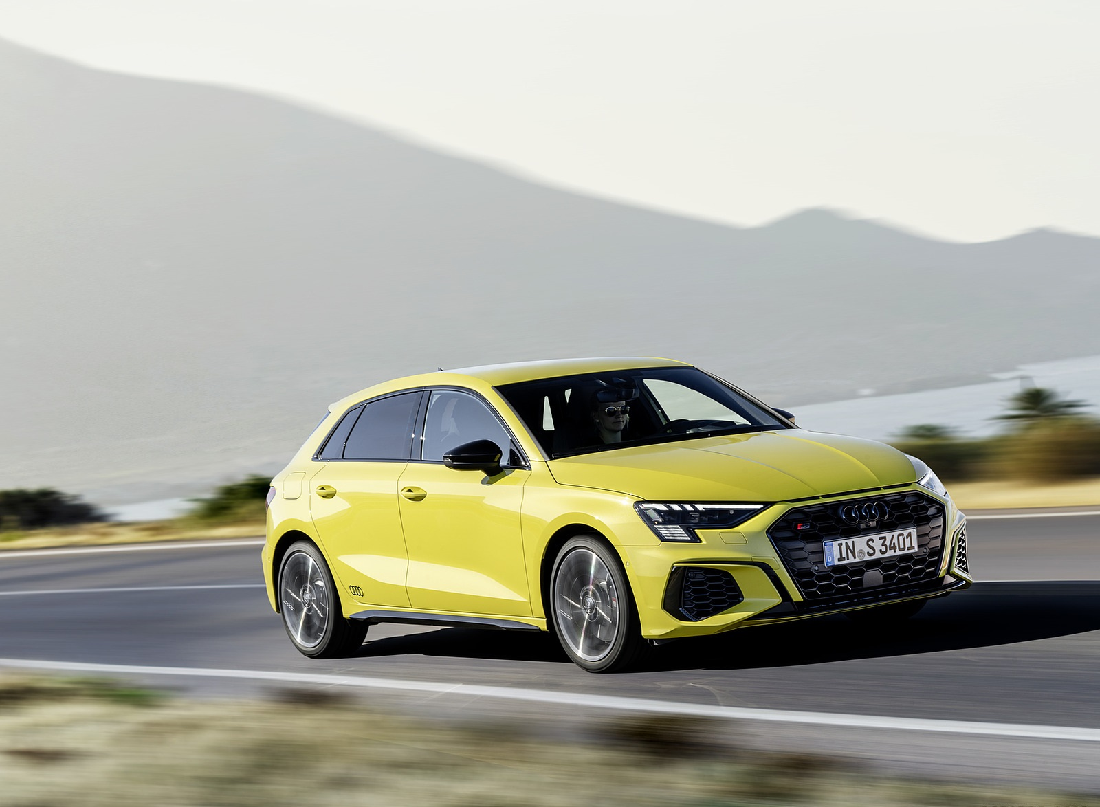 2021 Audi S3 Sportback (Color: Python Yellow) Front Three-Quarter Wallpapers (2)