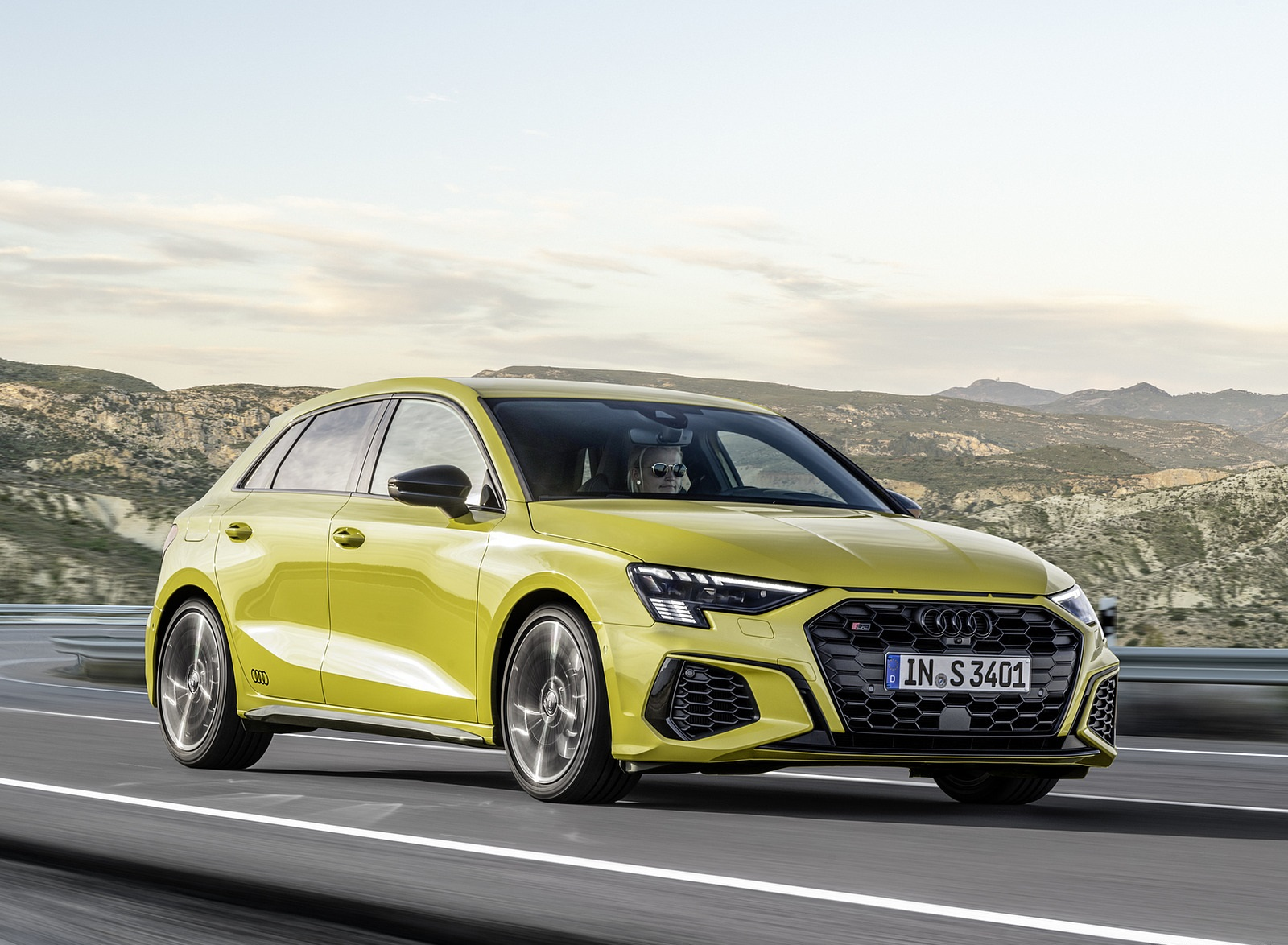 2021 Audi S3 Sportback (Color: Python Yellow) Front Three-Quarter Wallpapers (3)