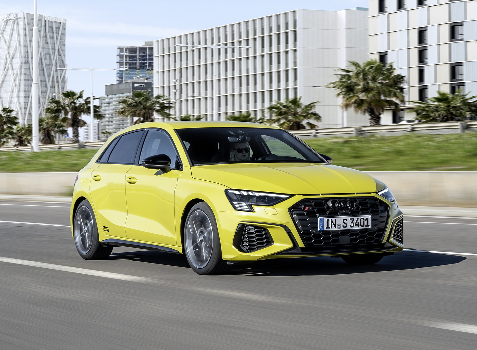 2021 Audi S3 Sportback (Color: Python Yellow) Front Three-Quarter Wallpapers (8)