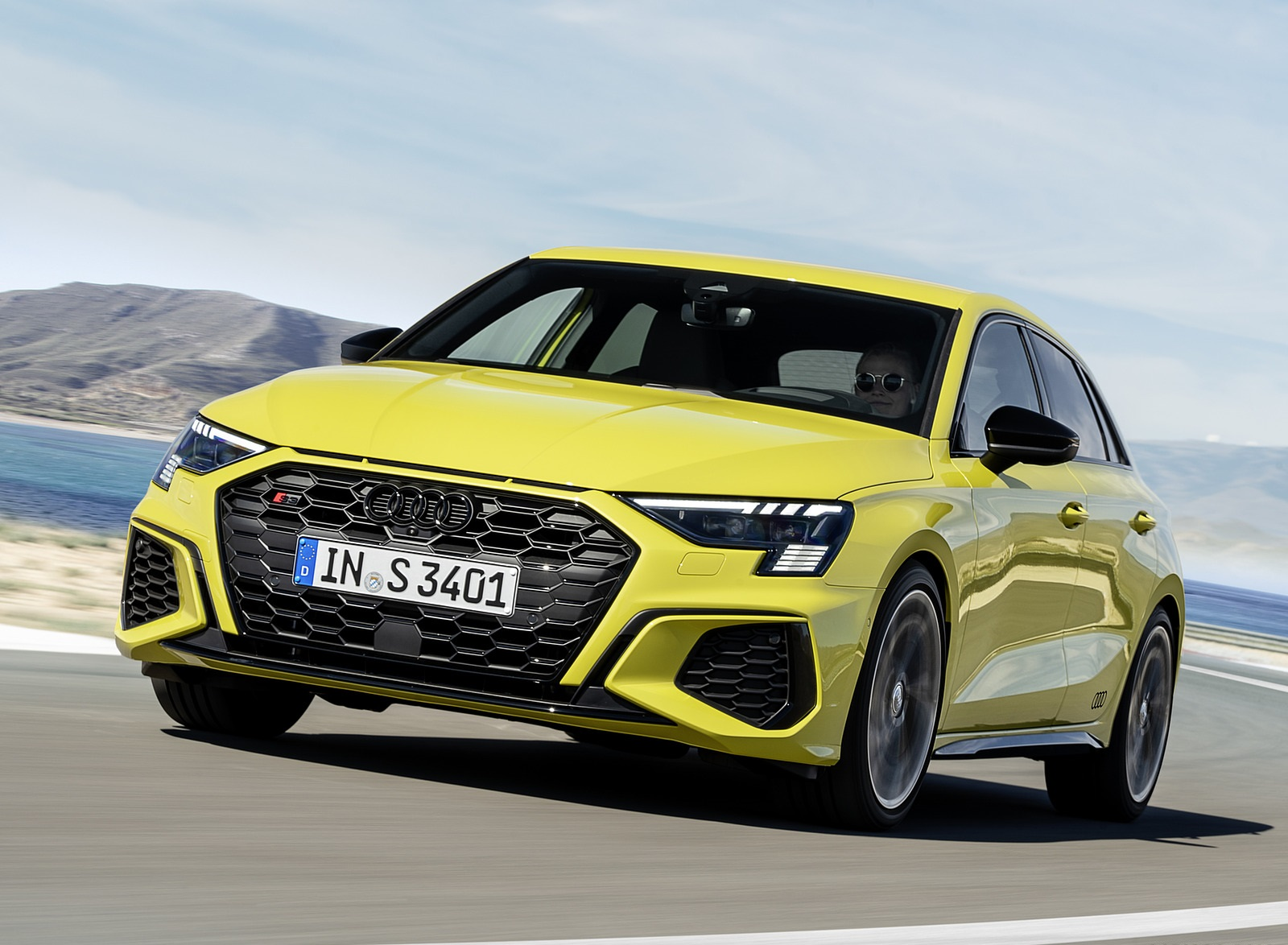 2021 Audi S3 Sportback (Color: Python Yellow) Front Wallpapers (5)