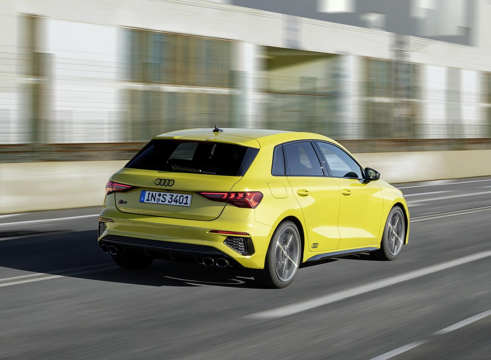 2021 Audi S3 Sportback (Color: Python Yellow) Rear Three-Quarter Wallpapers (9)