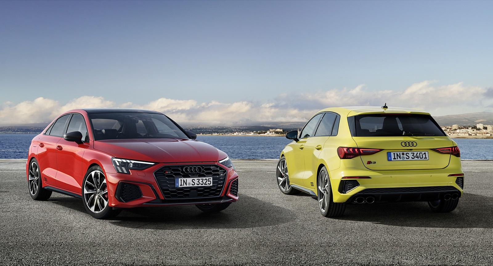 2021 Audi S3 Sportback (Color: Python Yellow) and 2021 Audi S3 Sedan Wallpapers (10)