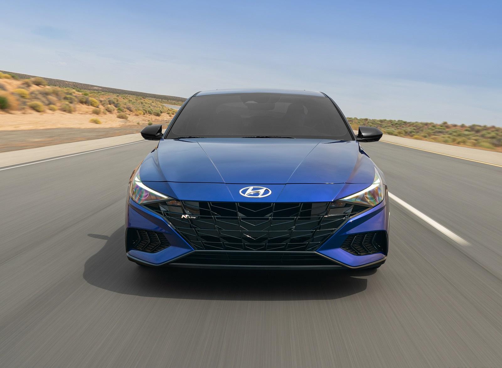 2021 Hyundai Elantra N Line Front Wallpapers (3)
