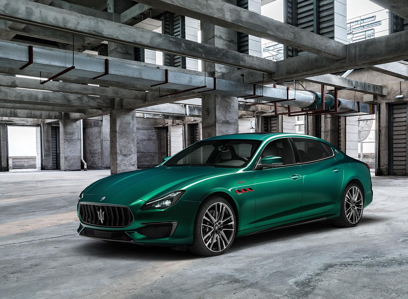 2021 Maserati Quattroporte Trofeo Front Three-Quarter Wallpapers (4)