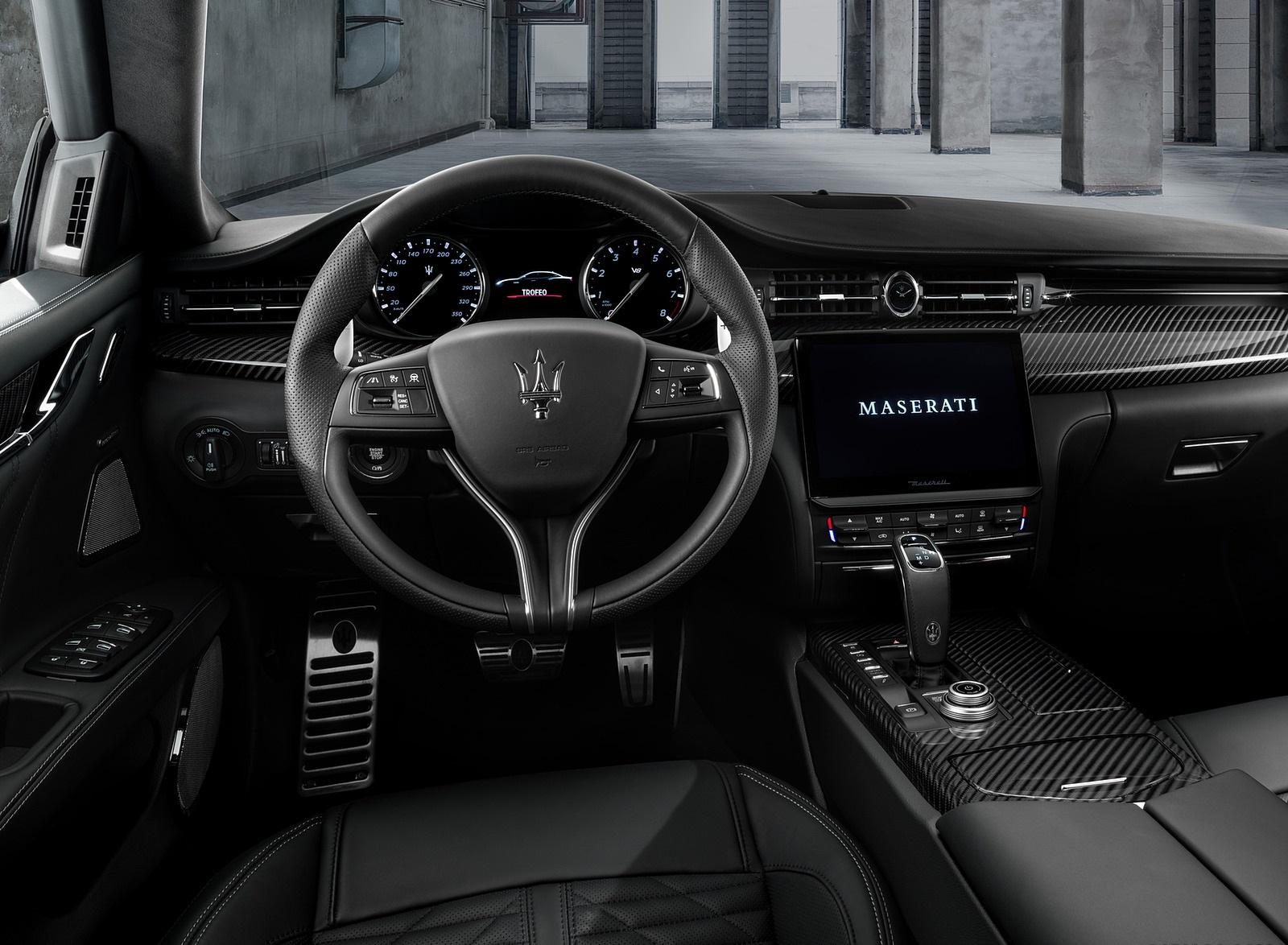2021 Maserati Quattroporte Trofeo Interior Wallpapers (10)