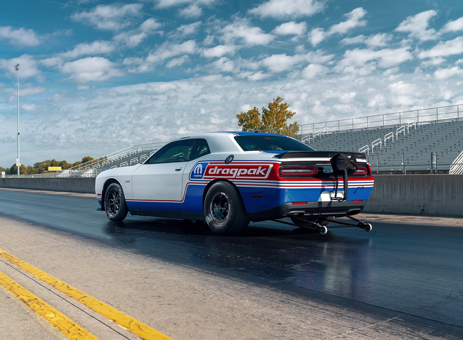 2021 Dodge Challenger Mopar Drag Pak Rear Three-Quarter Wallpapers (10)