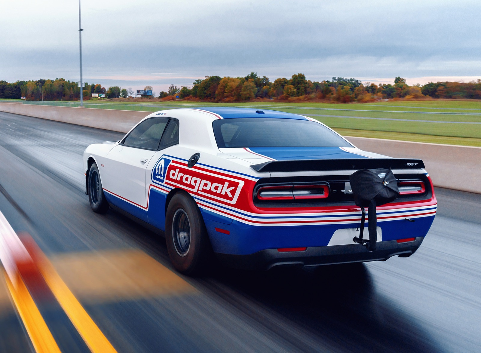 2021 Dodge Challenger Mopar Drag Pak Rear Three-Quarter Wallpapers (8)