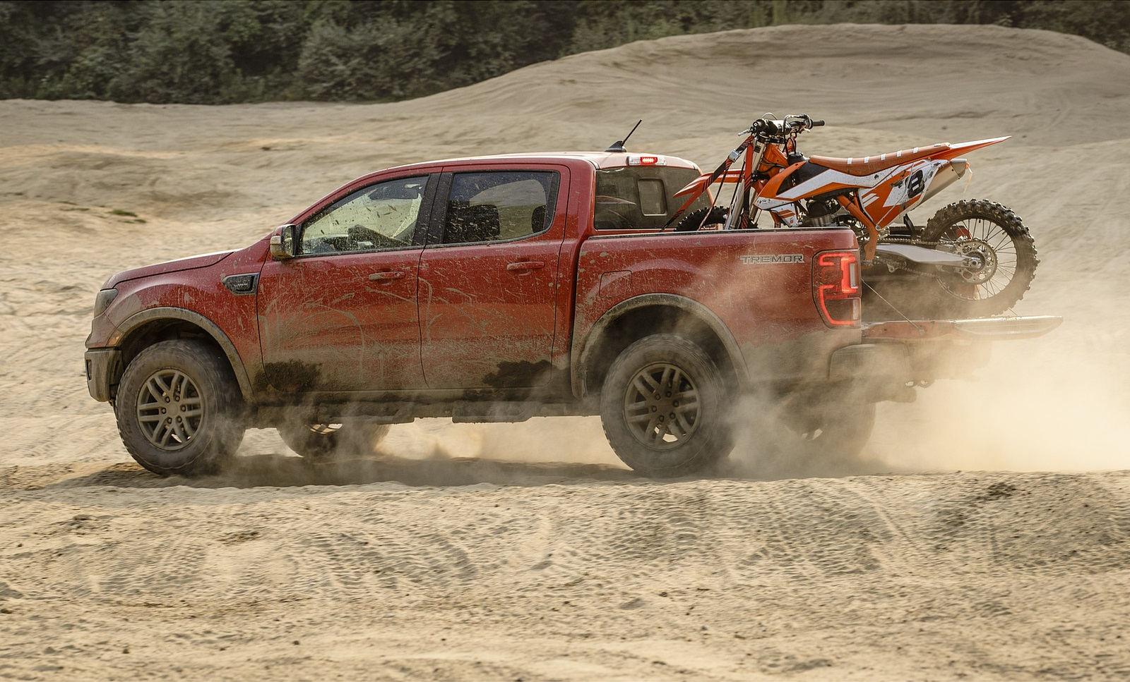 2021 Ford Ranger Tremor Off-Road Package Lariat Side Wallpapers (5)