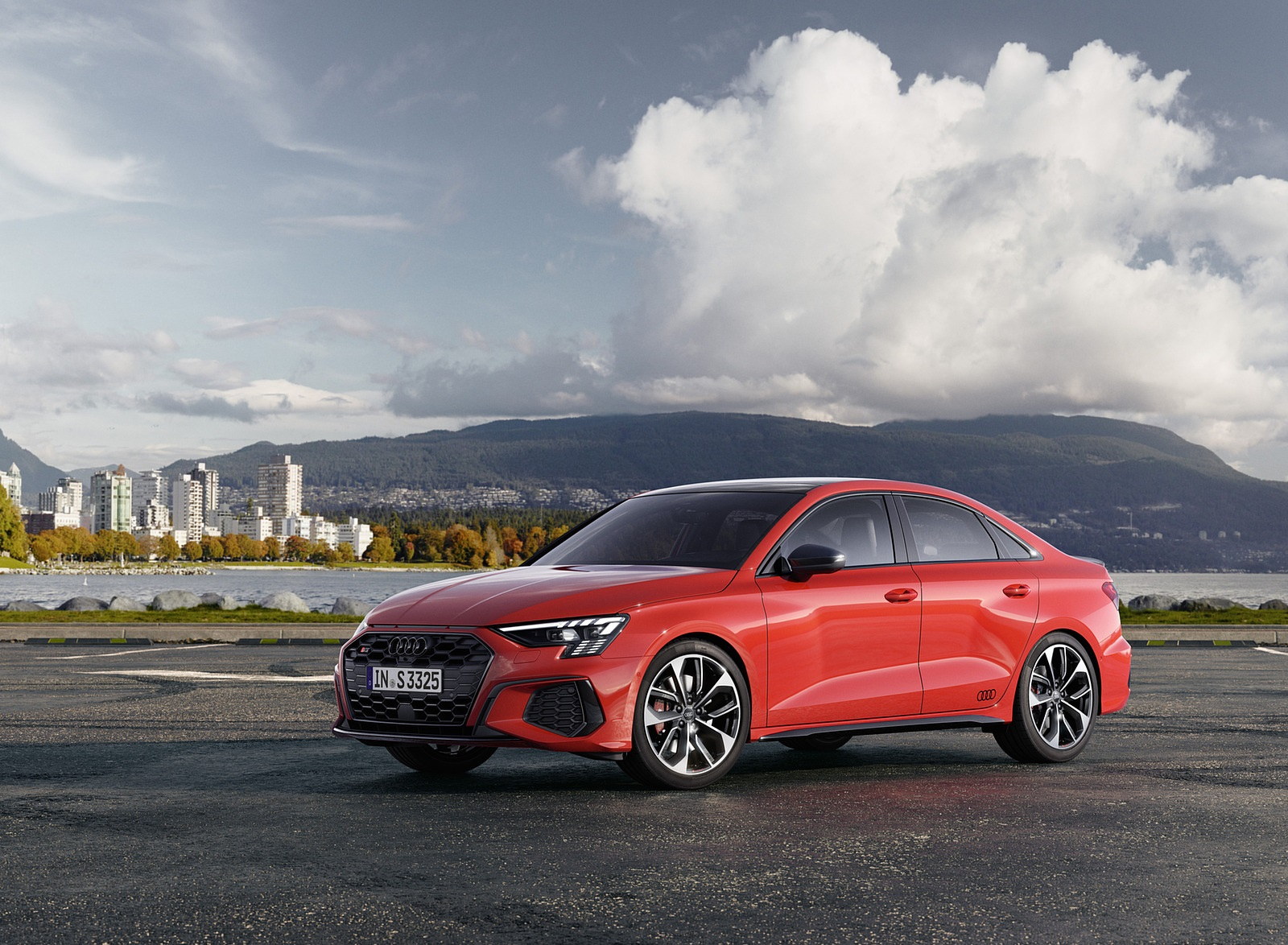 2021 Audi S3 Sedan (Color: Tango Red) Front Three-Quarter Wallpapers (5)