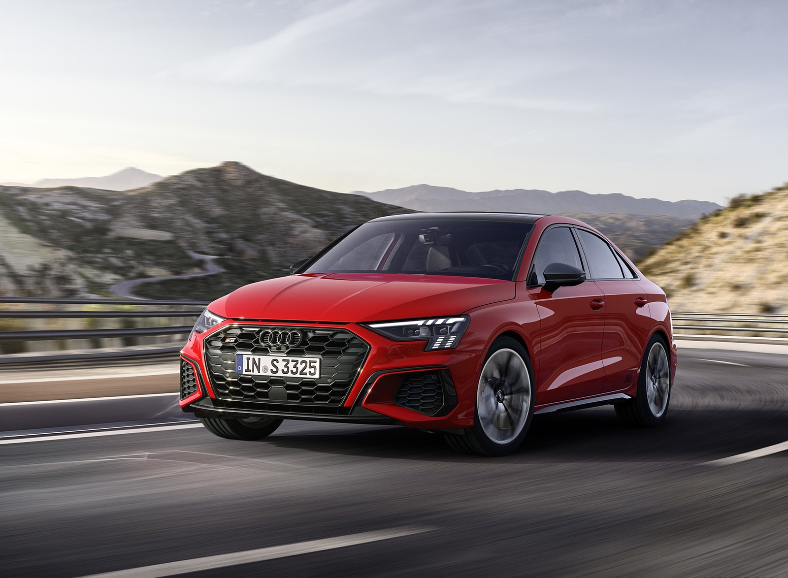 2021 Audi S3 Sedan (Color: Tango Red) Front Three-Quarter Wallpapers (1)
