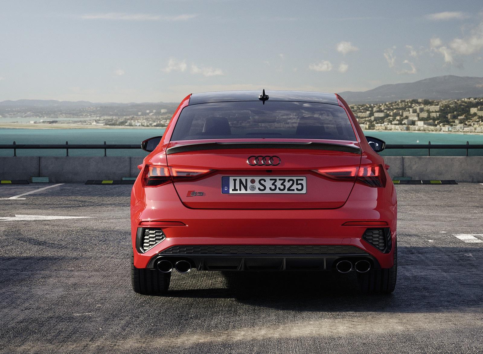 2021 Audi S3 Sedan (Color: Tango Red) Rear Wallpapers (10)
