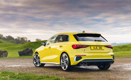 2021 Audi S3 Sportback (UK-Spec) Rear Three-Quarter Wallpapers  450x275 (48)