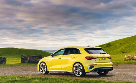 2021 Audi S3 Sportback (UK-Spec) Rear Three-Quarter Wallpapers 450x275 (49)