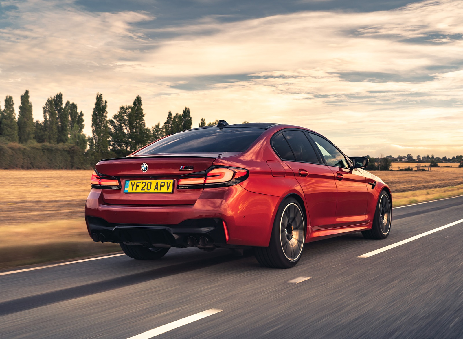 2021 BMW M5 Competition (UK-Spec) Rear Three-Quarter Wallpapers  (4)