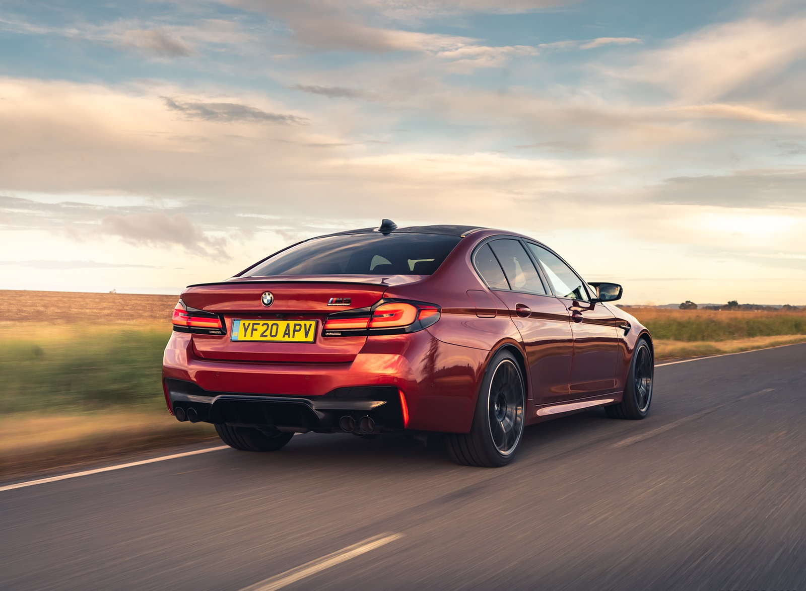 2021 BMW M5 Competition (UK-Spec) Rear Three-Quarter Wallpapers (5)