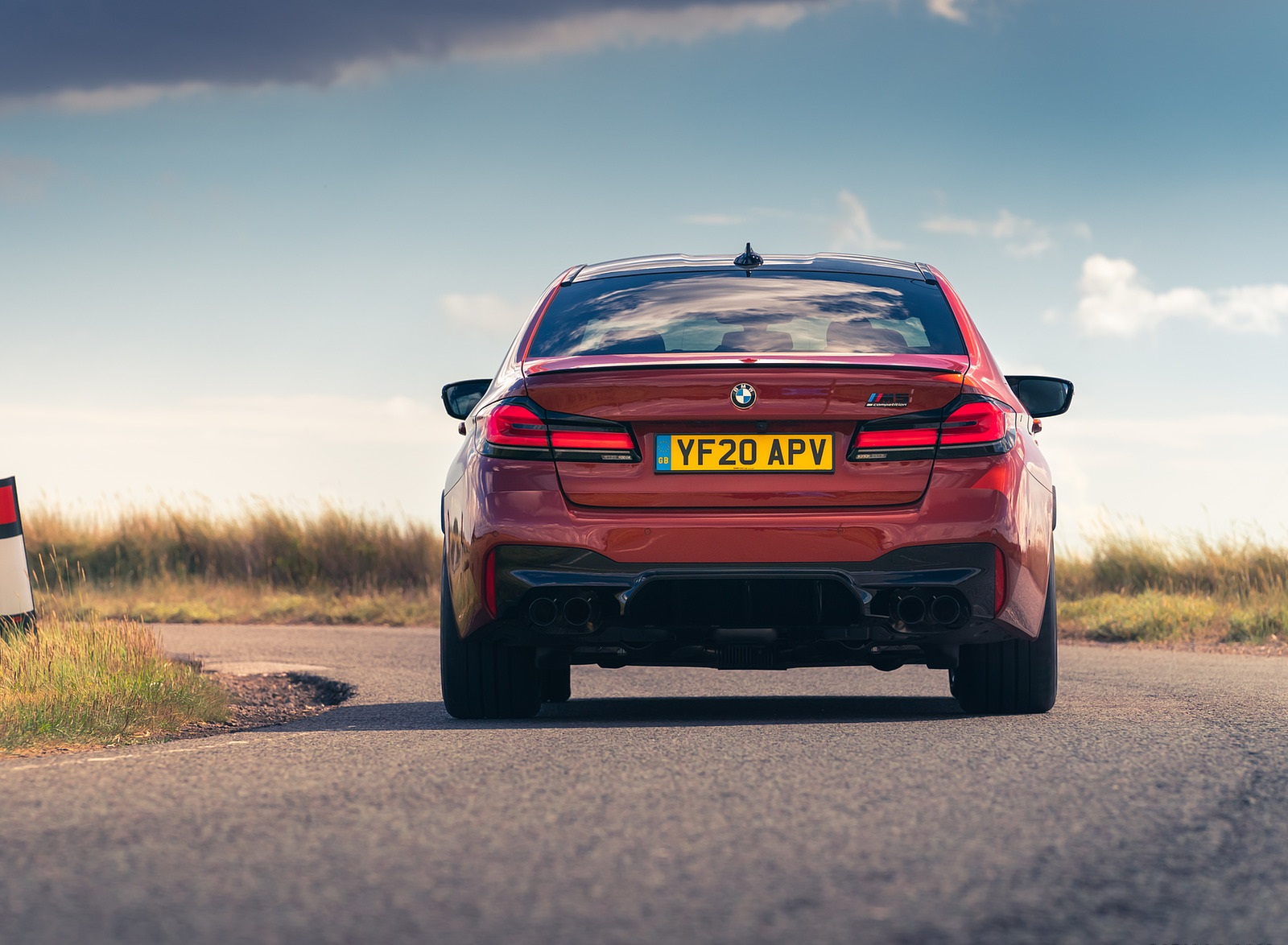 2021 BMW M5 Competition (UK-Spec) Rear Wallpapers (6)