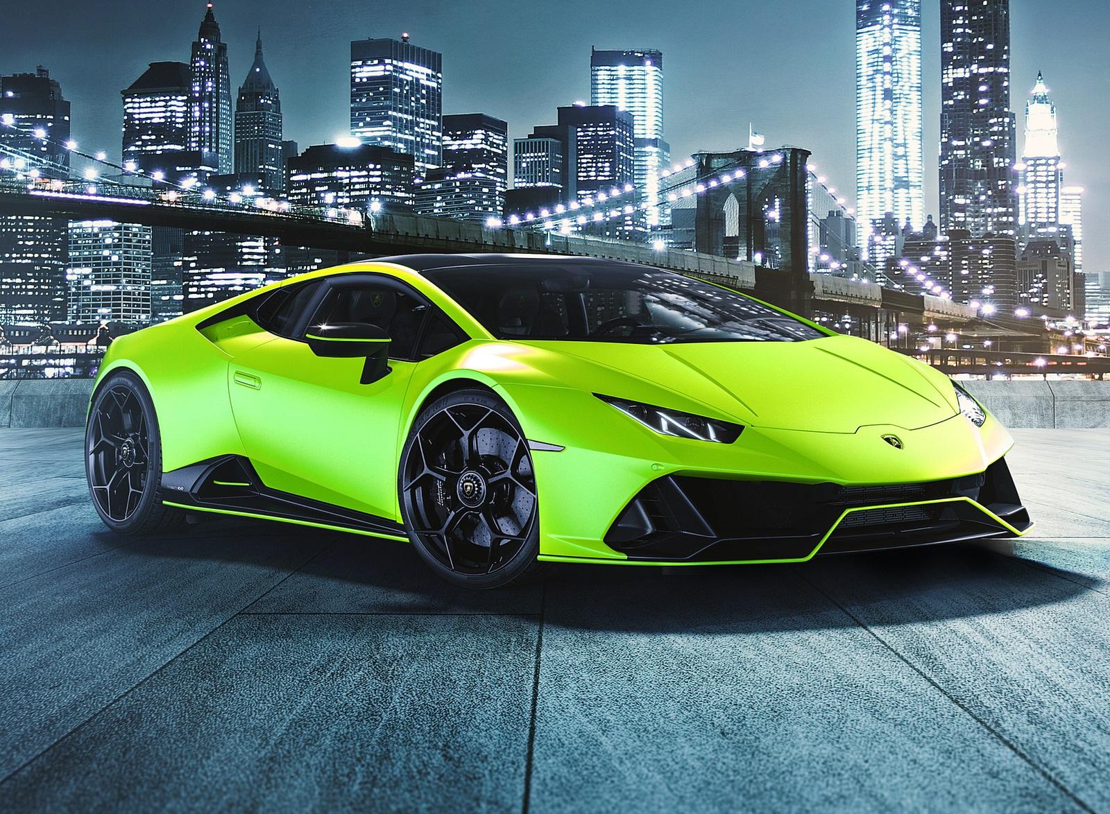2021 Lamborghini Huracán EVO Fluo Capsule (Color: Green) Front Three-Quarter Wallpapers (6)