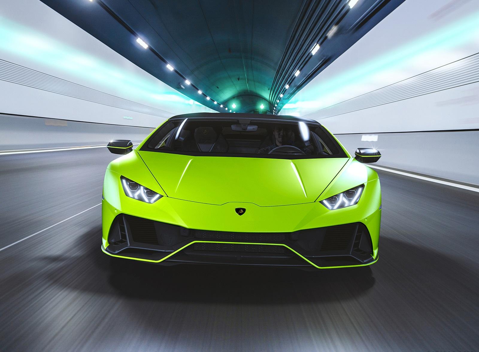 2021 Lamborghini Huracán EVO Fluo Capsule (Color: Green) Front Wallpapers (2)
