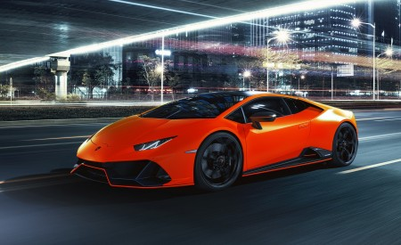 2021 Lamborghini Huracán EVO Fluo Capsule (Color: Red) Front Three-Quarter Wallpapers 450x275 (13)