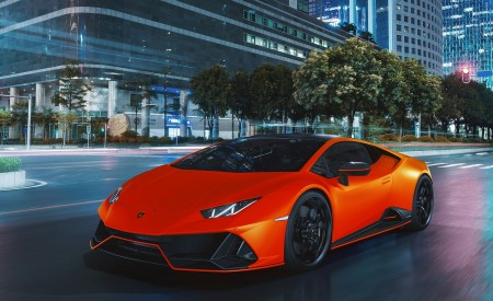 2021 Lamborghini Huracán EVO Fluo Capsule (Color: Red) Front Three-Quarter Wallpapers 450x275 (12)