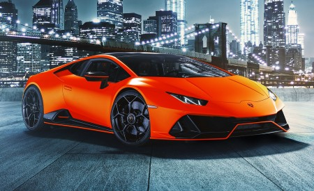 2021 Lamborghini Huracán EVO Fluo Capsule (Color: Red) Front Three-Quarter Wallpapers 450x275 (16)