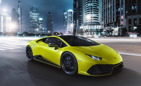 2021 Lamborghini Huracán EVO Fluo Capsule (Color: Yellow) Front Three-Quarter Wallpapers  450x275 (9)