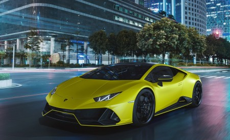 2021 Lamborghini Huracán EVO Fluo Capsule (Color: Yellow) Front Three-Quarter Wallpapers 450x275 (8)