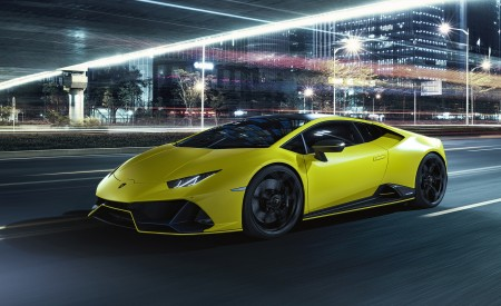 2021 Lamborghini Huracán EVO Fluo Capsule (Color: Yellow) Front Three-Quarter Wallpapers 450x275 (7)