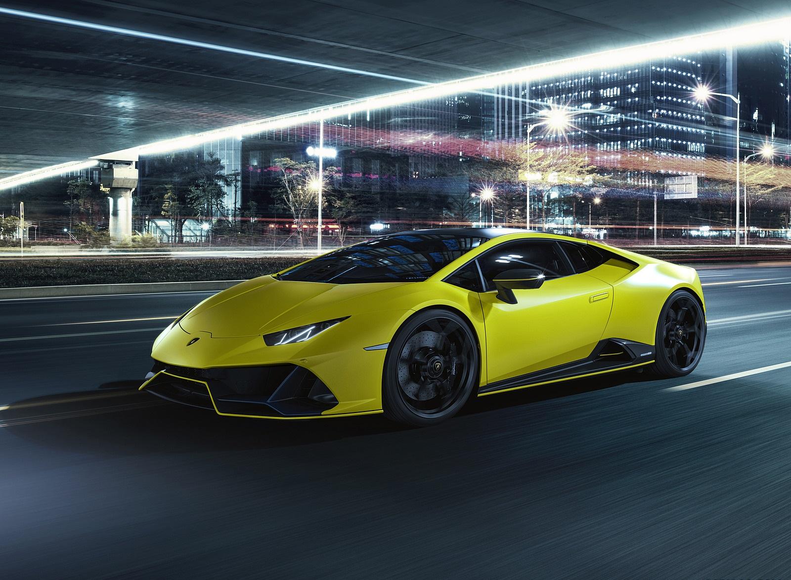 2021 Lamborghini Huracán EVO Fluo Capsule (Color: Yellow) Front Three-Quarter Wallpapers (7)