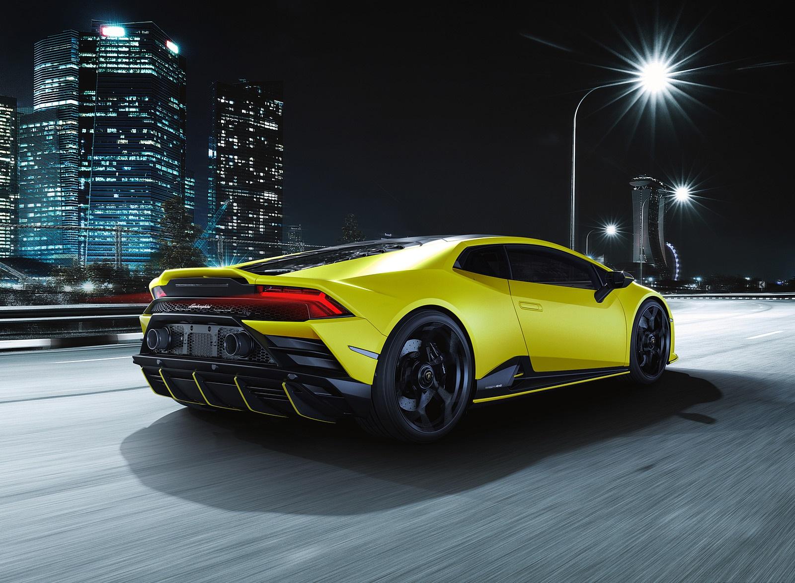 2021 Lamborghini Huracán EVO Fluo Capsule (Color: Yellow) Rear Three-Quarter Wallpapers (10)