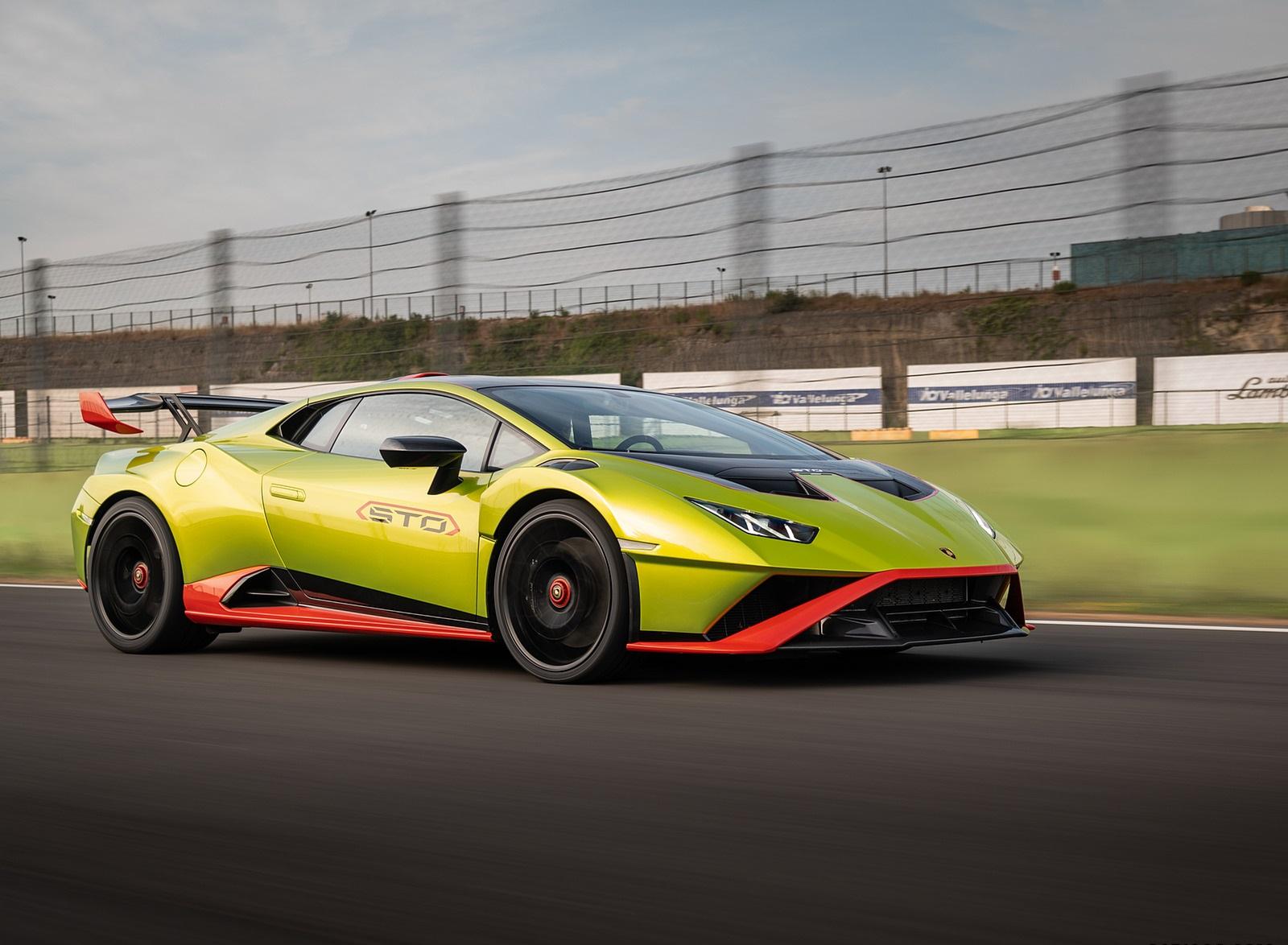 2021 Lamborghini Huracán STO Front Three-Quarter Wallpapers (3)