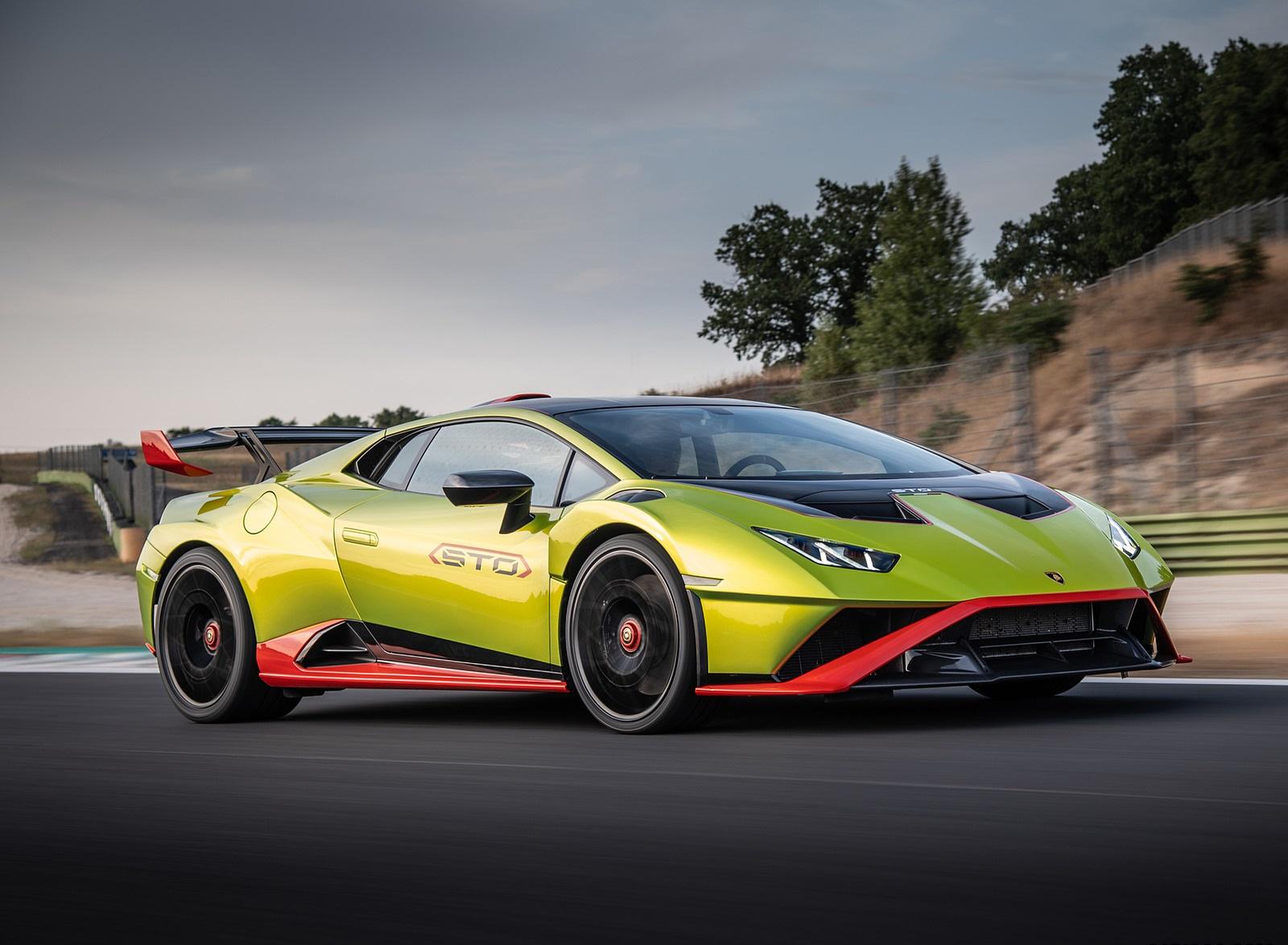 2021 Lamborghini Huracán STO Front Three-Quarter Wallpapers (2)