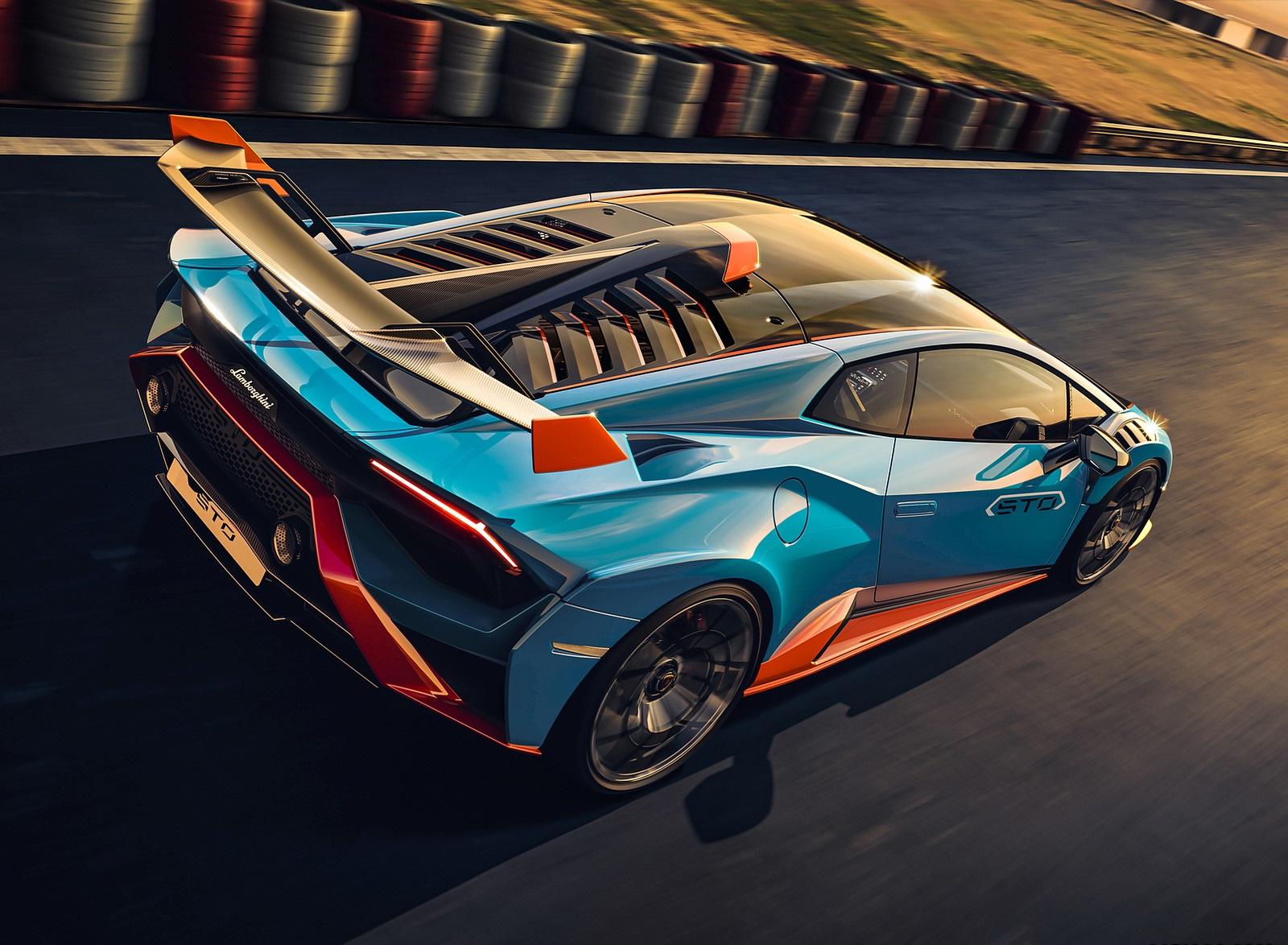 2021 Lamborghini Huracán STO Rear Three-Quarter Wallpapers (5)