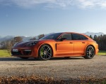2021 Porsche Panamera 4 E-Hybrid Sport Turismo (Color: Papaya Metallic) Front Three-Quarter Wallpapers 150x120 (21)