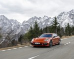 2021 Porsche Panamera 4 E-Hybrid Sport Turismo (Color: Papaya Metallic) Front Three-Quarter Wallpapers 150x120 (3)