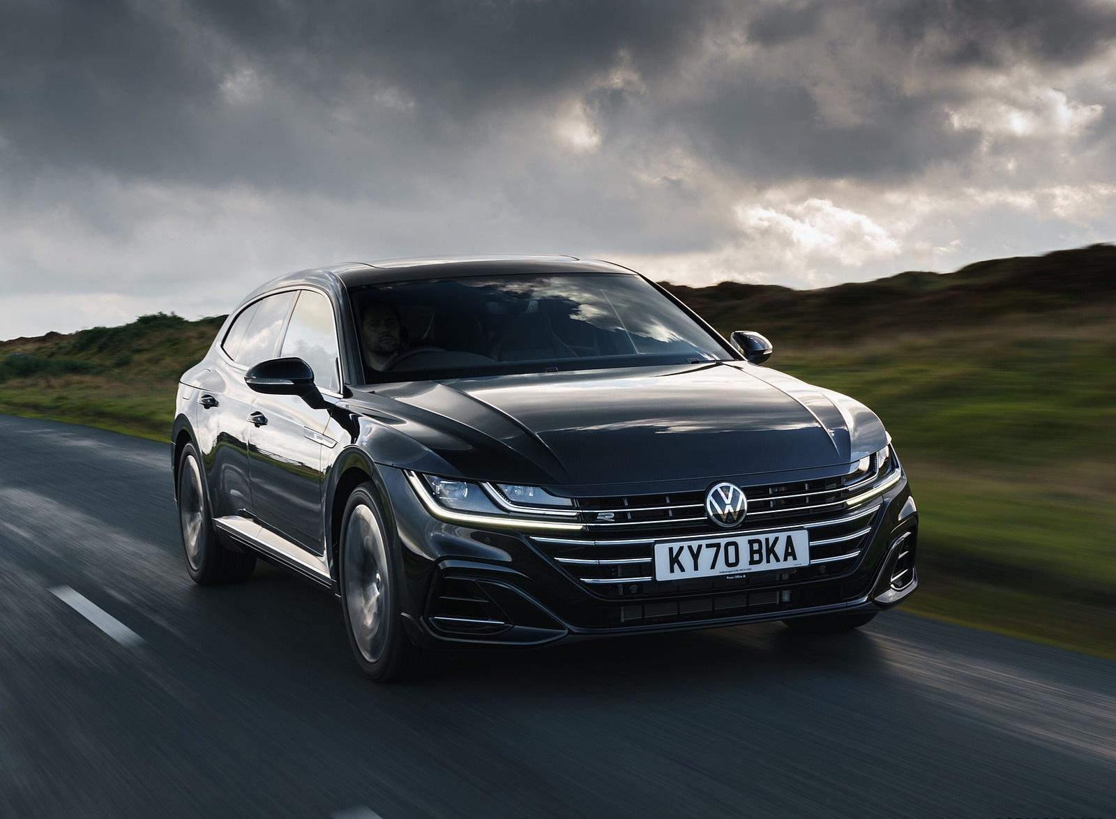 2021 Volkswagen Arteon Shooting Brake (UK-Spec) Front Three-Quarter Wallpapers (1)